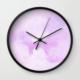 Pastel Cloulds Sky Seamless Nebula 180 Wall Clock