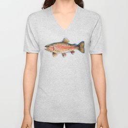 Rainbow Trout Unisex V-Neck