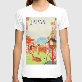 Japan vintage travel art poster T-shirt