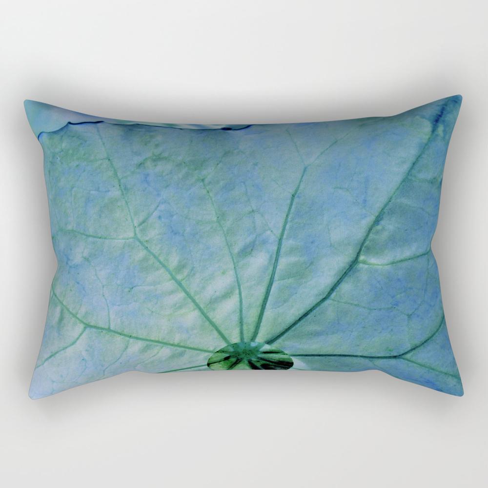 Droplet - Blue Rectangular Pillow (RPW8055642) photo