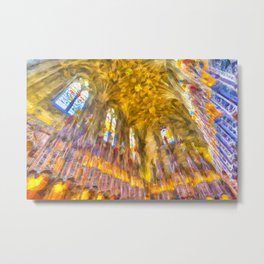 Edinburgh Cathedral Chapel Art Metal Print