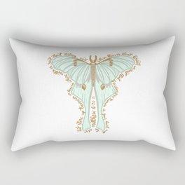 Matthew 6:20 - Bible verse moth illustration Rectangular Pillow