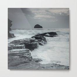 Coastline of Cornwall Metal Print