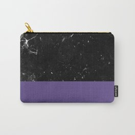Ultra Violet Meets Black Marble #1 #decor #art #society6 Carry-All Pouch