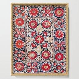 Shakhrisyabz Suzani Southwest Uzbekistan Embroidery Print Serving Tray
