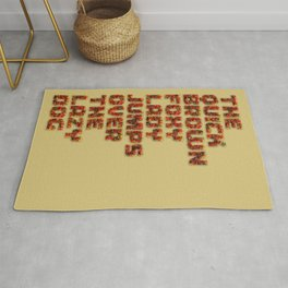 The quick brown foxy Lady - Gummy Bears 3d Rug