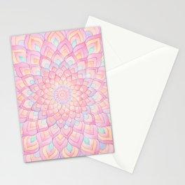 Watercolor Mandala 1 - Pastel Pink & Lilac Stationery Cards