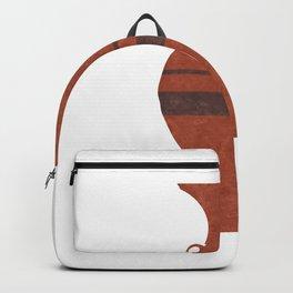 Minimal Abstract Greek Vase 11 - Hydria - Terracotta Series - Modern, Contemporary Print - Brown Backpack