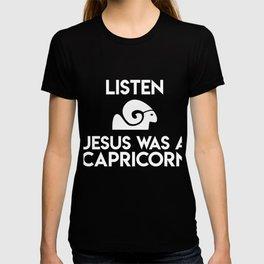 Listen - Jesus Was A Capricorn Ram Art T-shirt
