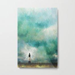 Tybee Island Lighthouse Painting Metal Print