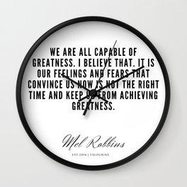 18   | Mel Robbins Quotes | 190802 Wall Clock