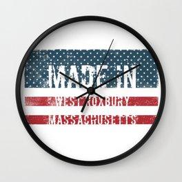 Made in West Roxbury, Massachusetts Wall Clock