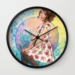 No April Showers Here Wall Clock