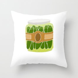 Pickle Rise and Brine Foodie Gift Throw Pillow