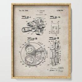 Movie Camera Patent - Film Camera Art - Antique Serving Tray