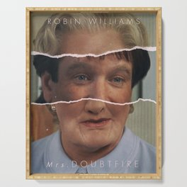 Mrs. Doubtfire, Robin Williams, movie poster, Pierce Brosnan, Chris Columbus, 90s film Serving Tray