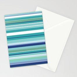 Tropical Blue Stripe|Banana Leaf Coordinate|Renee Davis Stationery Cards