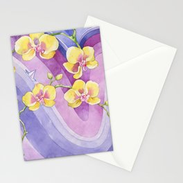 Orchids_Above a waves Stationery Cards