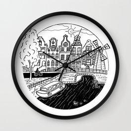 Memories of Amsterdam Wall Clock