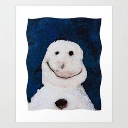 Snowman Portrait Art Print