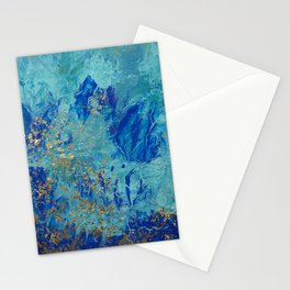 gold on blue Stationery Cards