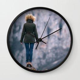 Leap of faith Wall Clock