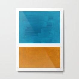 Rothko Minimalist Mid Century Modern Vintage Colorful Pop Art Colorfields Dark Teal Yellow Ochre Metal Print