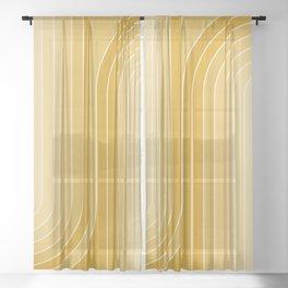 Gradient Curvature VII Sheer Curtain
