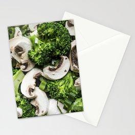 Broccoli mushrooms mix Stationery Cards
