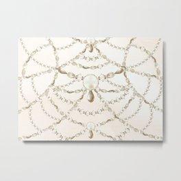 Beaded Pearls Metal Print