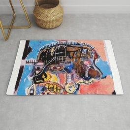 Jean-Michel Basquiat, Untitled Skull (1981) Society6 Online Priceless Artwork Rug
