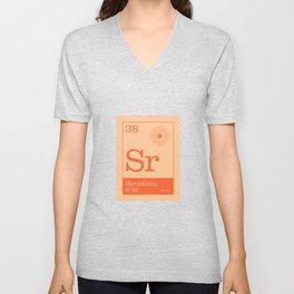 Periodic Elements - 38 Strontium (Sr) Unisex V-Neck