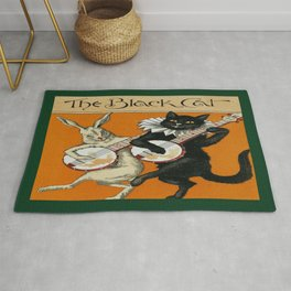 The Black Cat & White Rabbit Rug