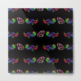 Glow Frog Shimon - Pattern Metal Print