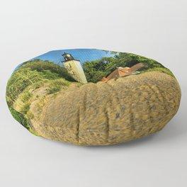 Image USA Presque Isle Pennsylvania Nature Lighthouses Floor Pillow