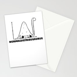Normaldistribusaurus Normal Distribution - Funny Math Stationery Cards