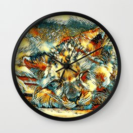 AnimalArt_Lion_20170612_by_JAMColorsSpecial Wall Clock