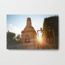 Sphinx Sunset Metal Print