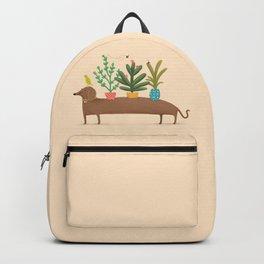 Dachshund & Parrot Backpack