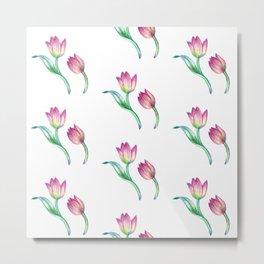 tulip pattern 2 Metal Print