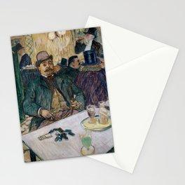 """Henri de Toulouse-Lautrec """"Monsieur Boileau at the Café"""" Stationery Cards"""