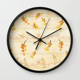 Autumn Leaves in Watercolor Wall Clock