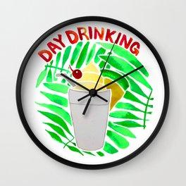 Day Drinking Wall Clock