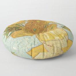 Vincent Van Gogh - Still Life: Vase with Twelve Sunflowers (1881) Floor Pillow