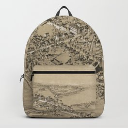 Vintage Pictorial Map of Guilford CT (1881) Backpack
