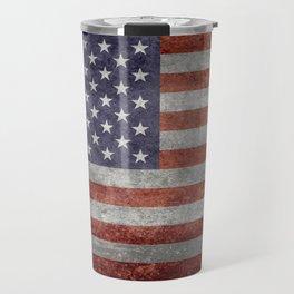 USA flag, retro style Travel Mug