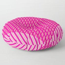 Criss-Cross Pink Diamonds Floor Pillow