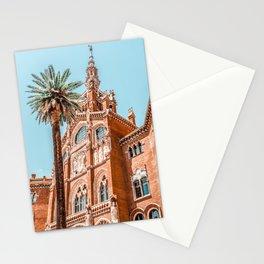 Hospital Santa Creu Sant Pau in Barcelona, Barcelona City Urban Art Print, Modernism Architecture Stationery Cards
