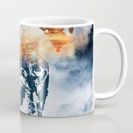 French bulldog and landscape abstract design Coffee Mug