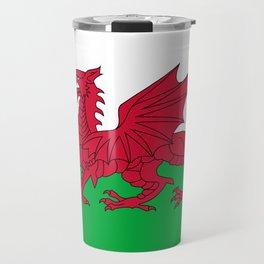 Welsh Flag of Wales Travel Mug